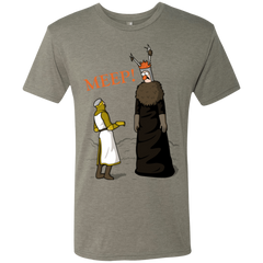T-Shirts Venetian Grey / Small The Knight Who Says MEEP Men's Triblend T-Shirt