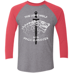The Lone Wolf Men's Triblend 3/4 Sleeve