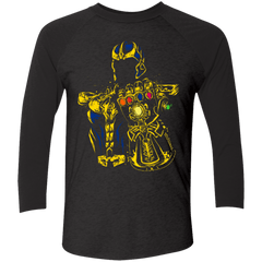T-Shirts Vintage Black/Vintage Black / X-Small The Mad Titan Men's Triblend 3/4 Sleeve