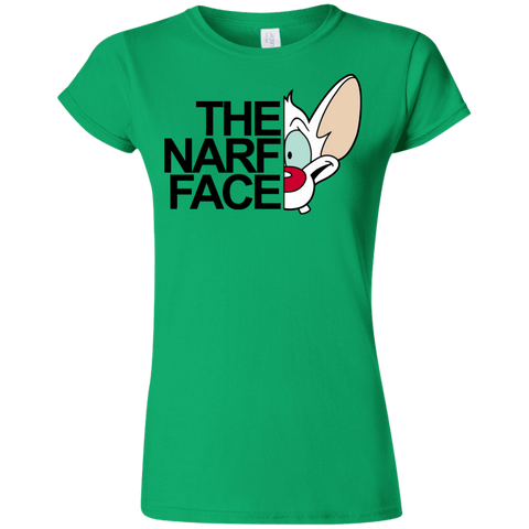 T-Shirts Irish Green / S The Narf Face Junior Slimmer-Fit T-Shirt