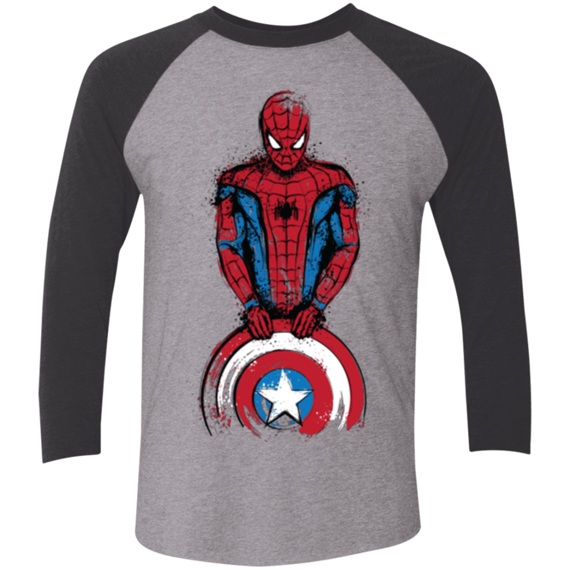 T-Shirts Premium Heather/ Vintage Black / X-Small The Spider is Coming Men's Triblend 3/4 Sleeve