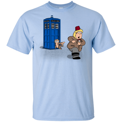 T-Shirts Light Blue / YXS The Tardis Monkey Youth T-Shirt