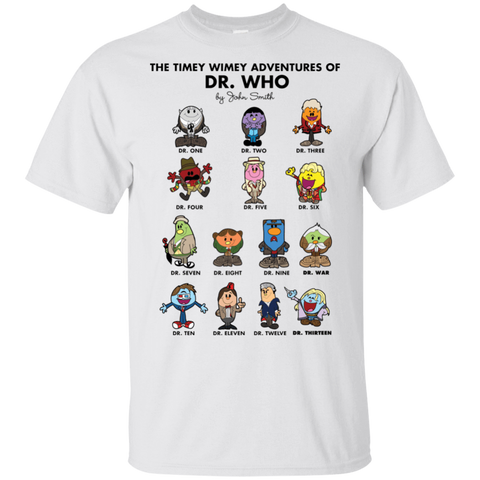 The Timey Wimey Adventures of the Doctor T-Shirt