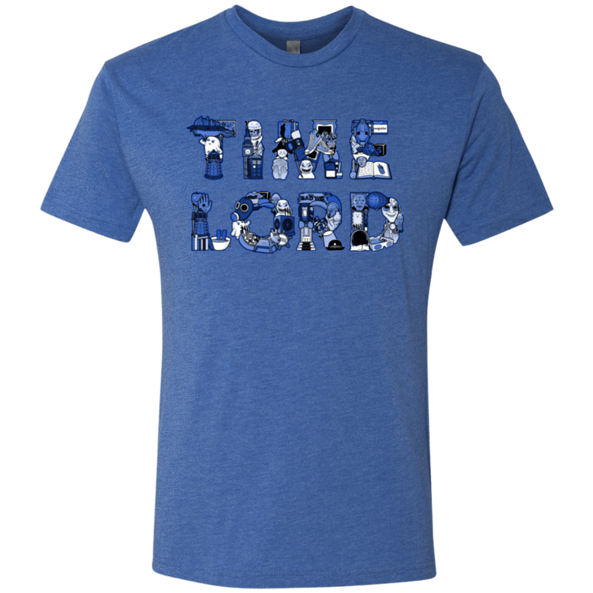 T-Shirts Vintage Royal / Small Timelord Men's Triblend T-Shirt