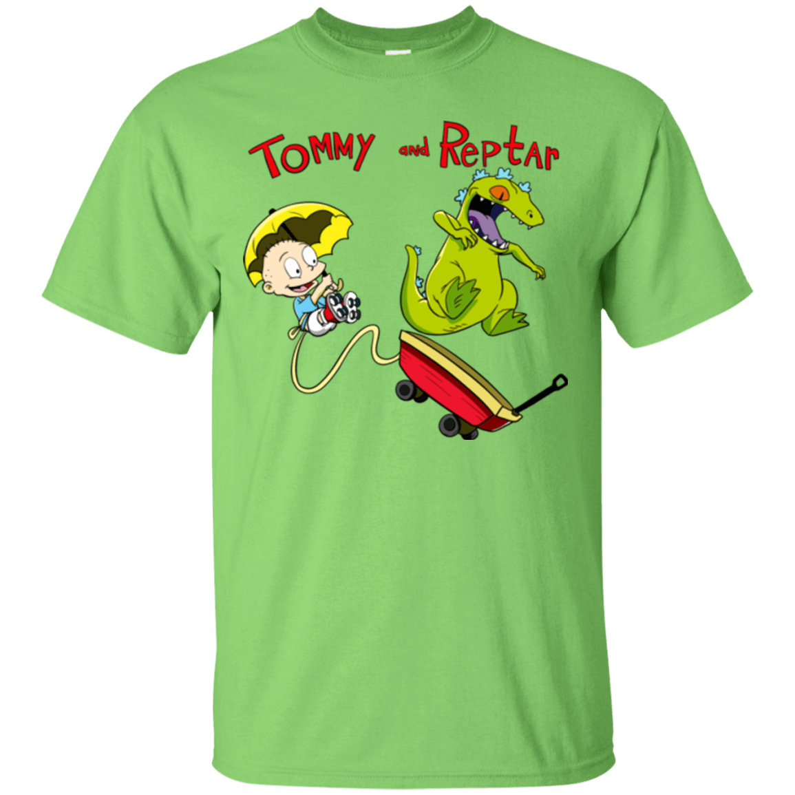 T-Shirts Lime / S Tommy and Reptar T-Shirt