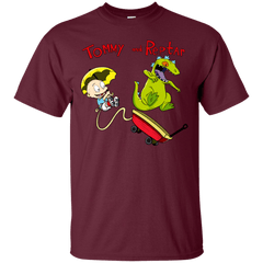 T-Shirts Maroon / S Tommy and Reptar T-Shirt