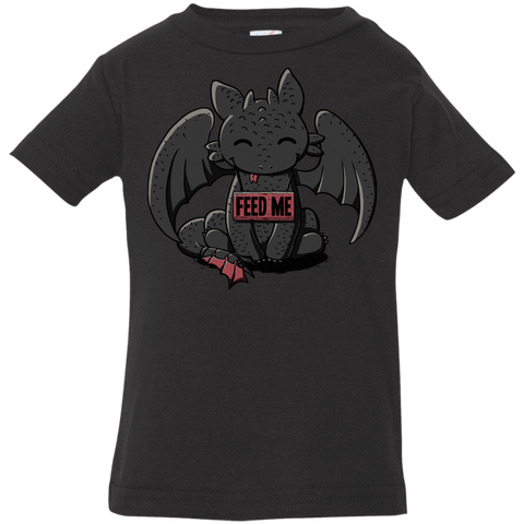 T-Shirts Black / 6 Months Toothless Feed Me Infant Premium T-Shirt