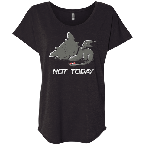 T-Shirts Vintage Black / X-Small Toothless Not Today Triblend Dolman Sleeve