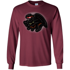 T-Shirts Maroon / YS Toothless Simba Youth Long Sleeve T-Shirt