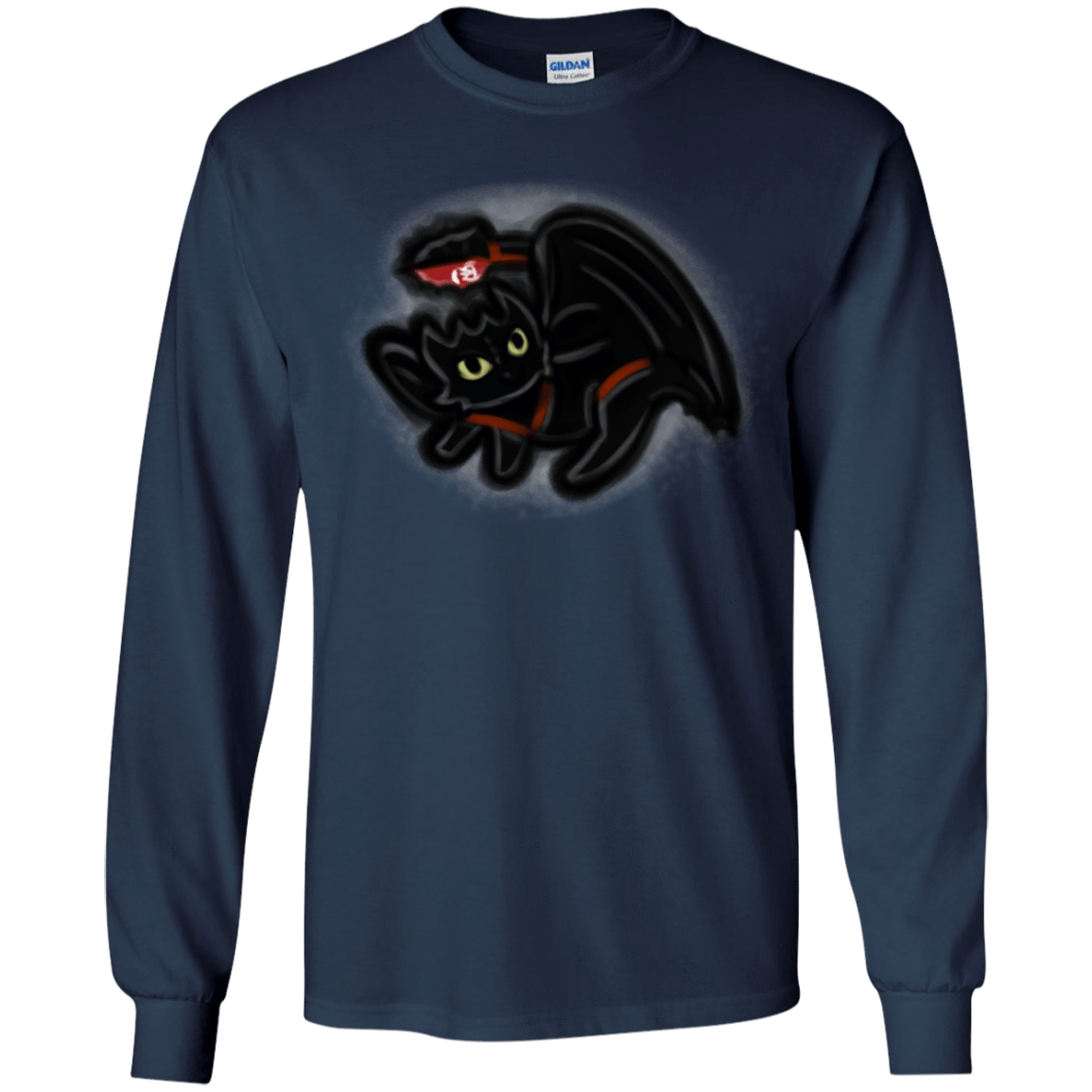 T-Shirts Navy / YS Toothless Simba Youth Long Sleeve T-Shirt