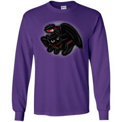 T-Shirts Purple / YS Toothless Simba Youth Long Sleeve T-Shirt