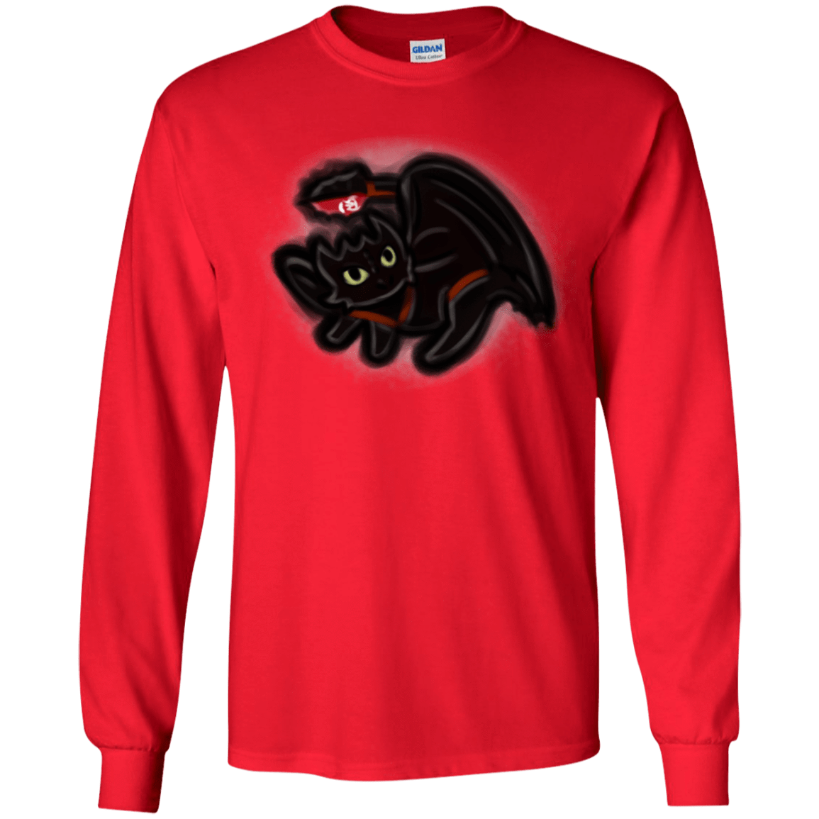 T-Shirts Red / YS Toothless Simba Youth Long Sleeve T-Shirt