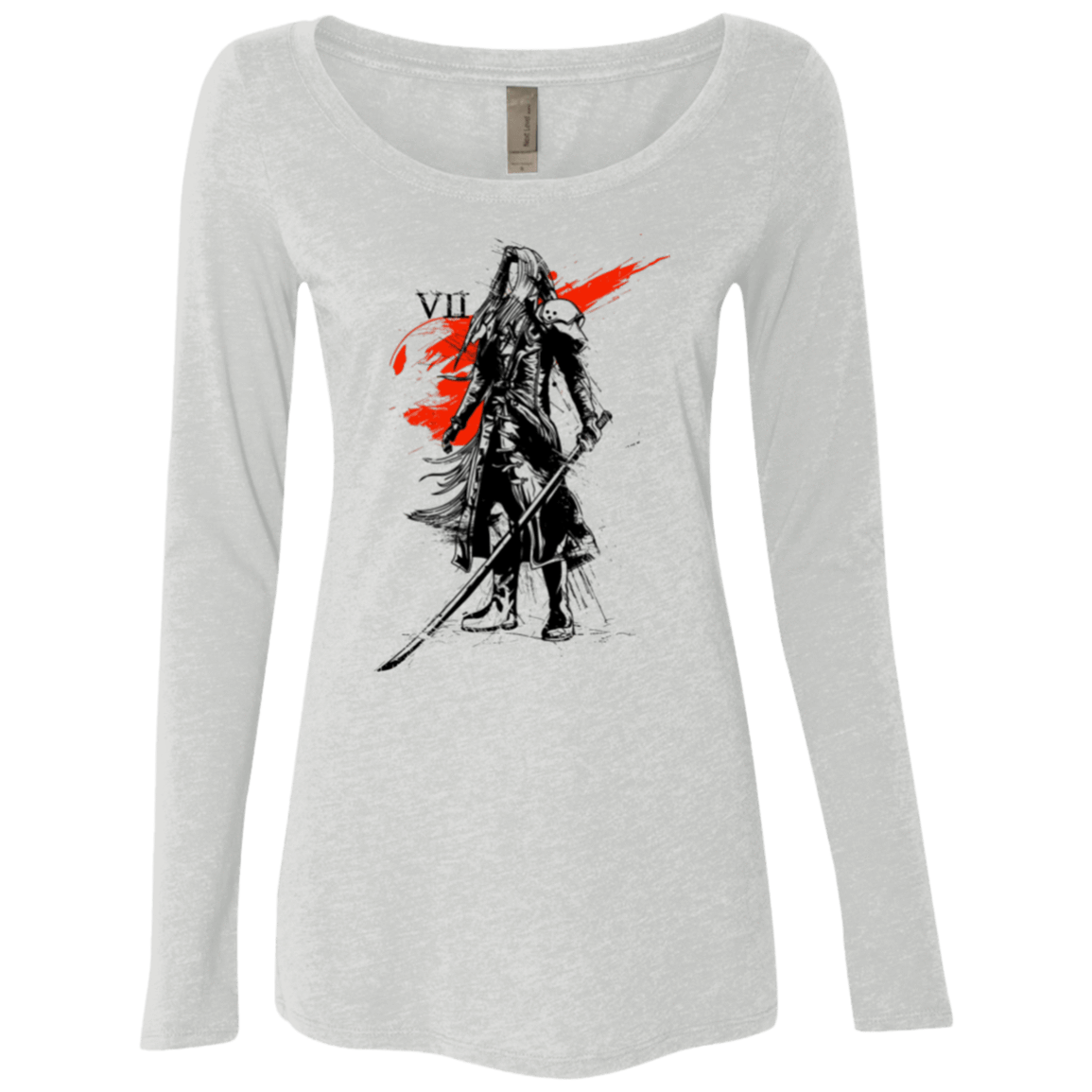T-Shirts Heather White / Small Traditional exsoldier Women's Triblend Long Sleeve Shirt