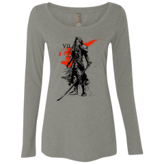 T-Shirts Venetian Grey / Small Traditional exsoldier Women's Triblend Long Sleeve Shirt