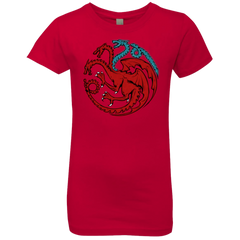 T-Shirts Red / YXS Trinity of fire and ice V2 Girls Premium T-Shirt
