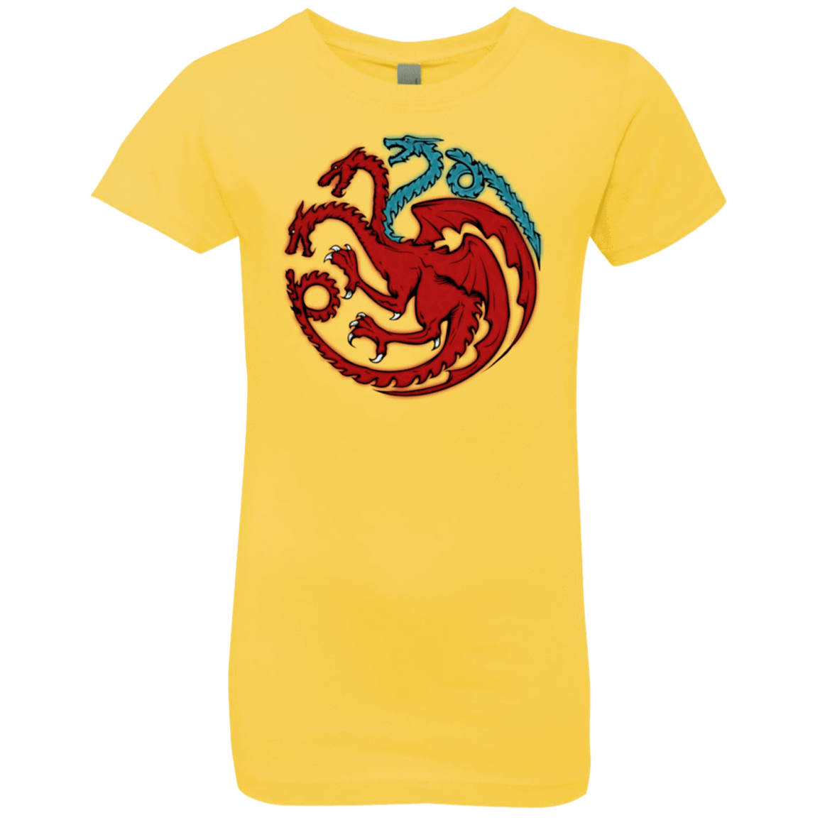 T-Shirts Vibrant Yellow / YXS Trinity of fire and ice V2 Girls Premium T-Shirt