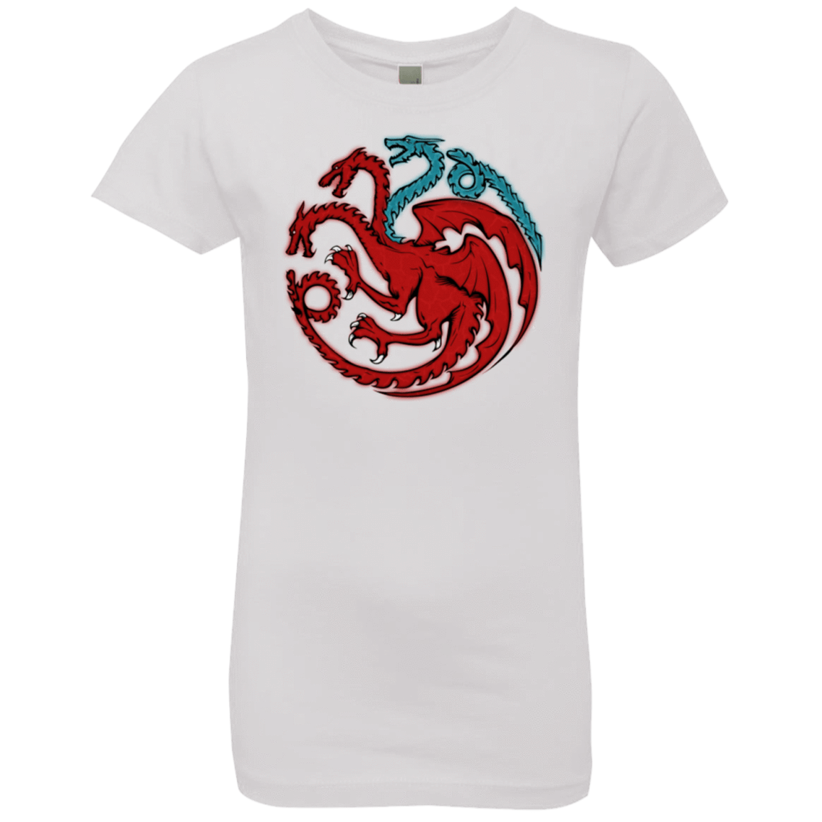 T-Shirts White / YXS Trinity of fire and ice V2 Girls Premium T-Shirt