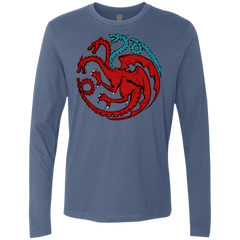 T-Shirts Indigo / Small Trinity of fire and ice V2 Men's Premium Long Sleeve