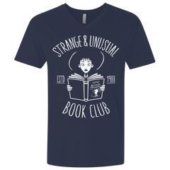 T-Shirts Midnight Navy / X-Small Unusual Book Club Men's Premium V-Neck