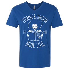 T-Shirts Royal / X-Small Unusual Book Club Men's Premium V-Neck