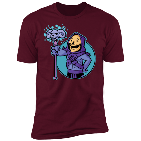 T-Shirts Maroon / S Vault Skeletor Men's Premium T-Shirt