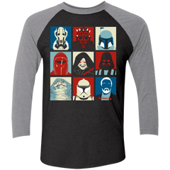Villain Wars Pop Men's Triblend 3/4 Sleeve