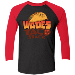 T-Shirts Vintage Black/Vintage Red / X-Small Wade Tacos Triblend 3/4 Sleeve