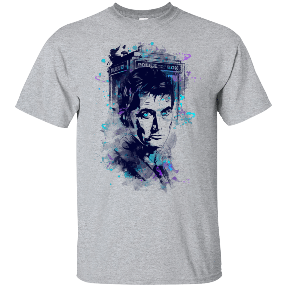 Water Colors Tenth Doctor T-Shirt