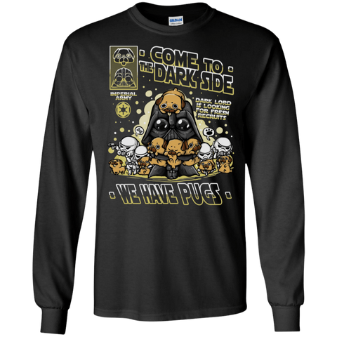 T-Shirts Black / S We Have Pugs Men's Long Sleeve T-Shirt