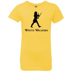 T-Shirts Vibrant Yellow / YXS White walkers Girls Premium T-Shirt