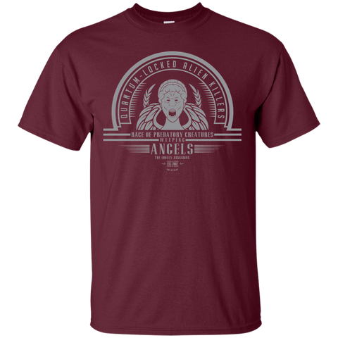 T-Shirts Maroon / Small Who Villains Weeping Angels T-Shirt