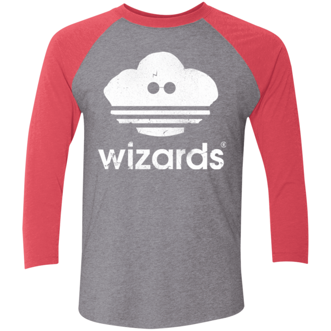 T-Shirts Premium Heather/ Vintage Red / X-Small Wizards Men's Triblend 3/4 Sleeve