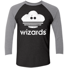 T-Shirts Vintage Black/Premium Heather / X-Small Wizards Men's Triblend 3/4 Sleeve