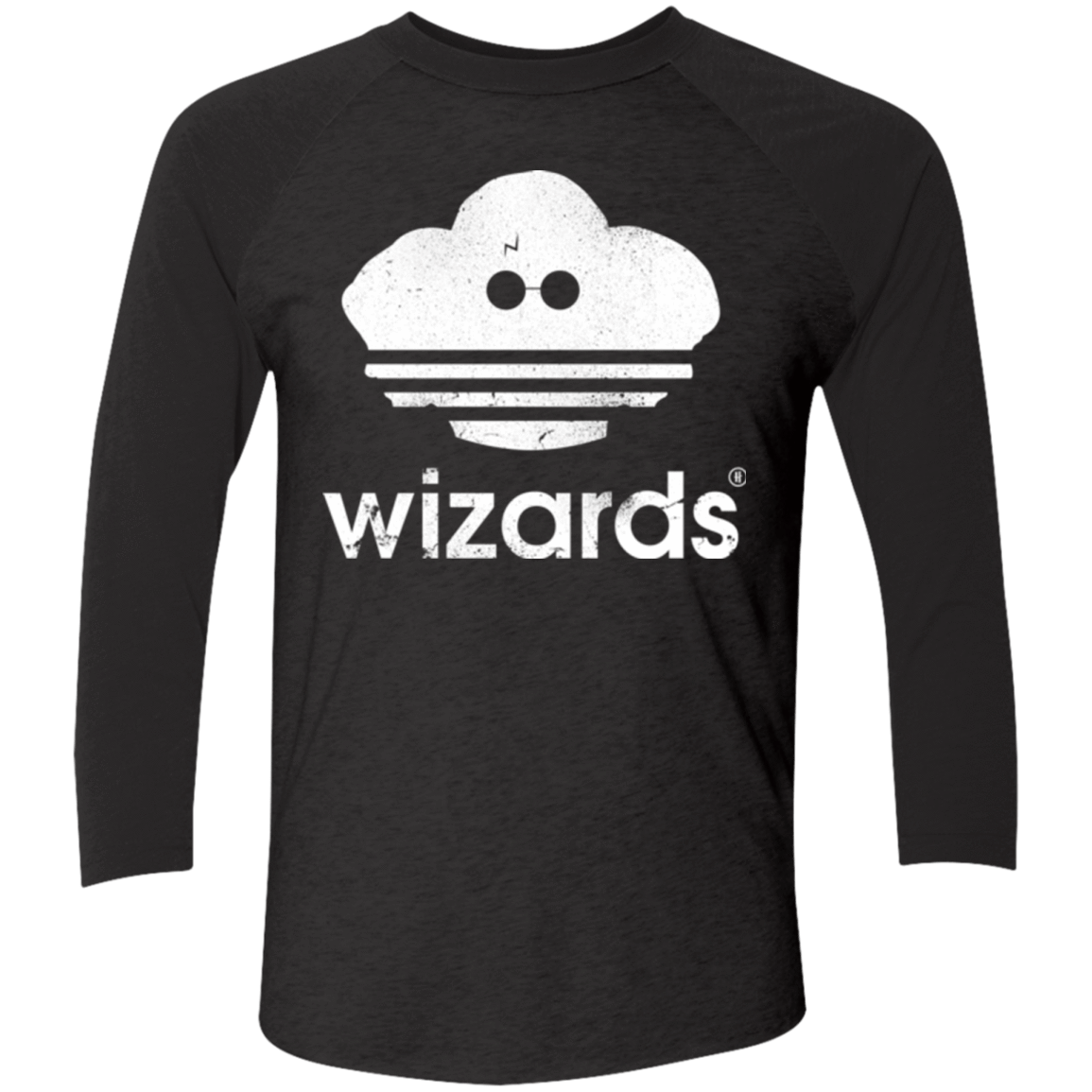 T-Shirts Vintage Black/Vintage Black / X-Small Wizards Men's Triblend 3/4 Sleeve