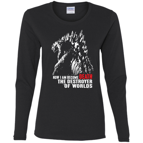 T-Shirts Black / S World Destroyer Women's Long Sleeve T-Shirt