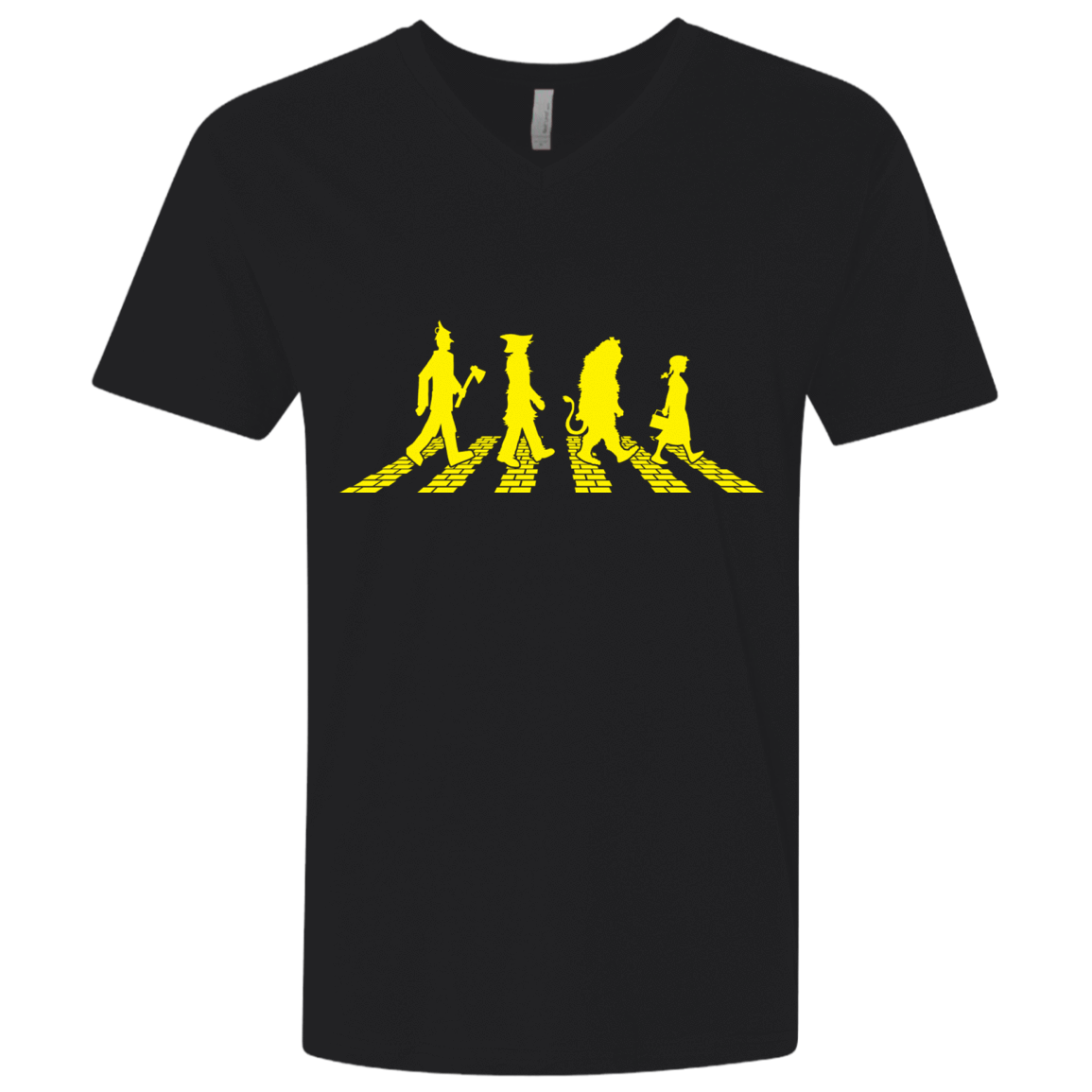 Yellow Abbey Brick Road Men's Premium V-Neck