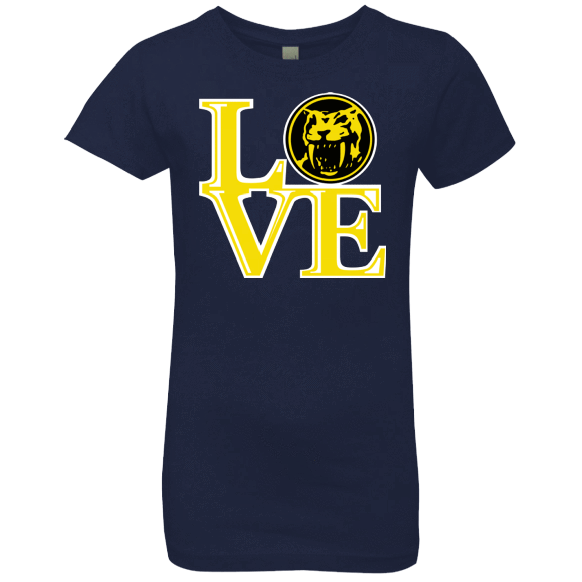 T-Shirts Midnight Navy / YXS Yellow Ranger LOVE Girls Premium T-Shirt