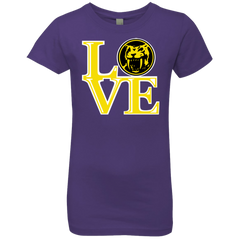 T-Shirts Purple Rush / YXS Yellow Ranger LOVE Girls Premium T-Shirt
