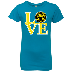 T-Shirts Turquoise / YXS Yellow Ranger LOVE Girls Premium T-Shirt