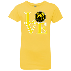 T-Shirts Vibrant Yellow / YXS Yellow Ranger LOVE Girls Premium T-Shirt