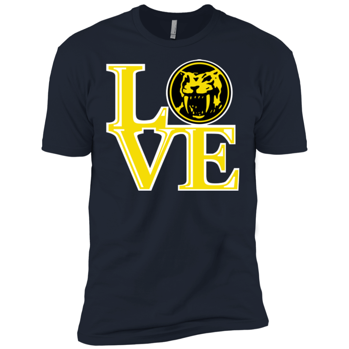 T-Shirts Midnight Navy / X-Small Yellow Ranger LOVE Men's Premium T-Shirt