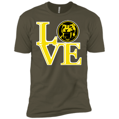T-Shirts Military Green / X-Small Yellow Ranger LOVE Men's Premium T-Shirt