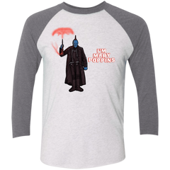 T-Shirts Heather White/Premium Heather / X-Small Yondu Poppins Men's Triblend 3/4 Sleeve
