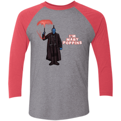T-Shirts Premium Heather/Vintage Red / X-Small Yondu Poppins Men's Triblend 3/4 Sleeve