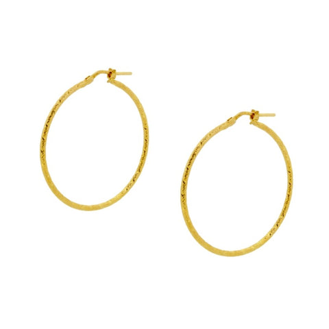 Pendientes Aros Diamantados Claudia Gold