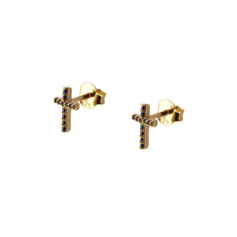 Pendientes Mini Black Cross