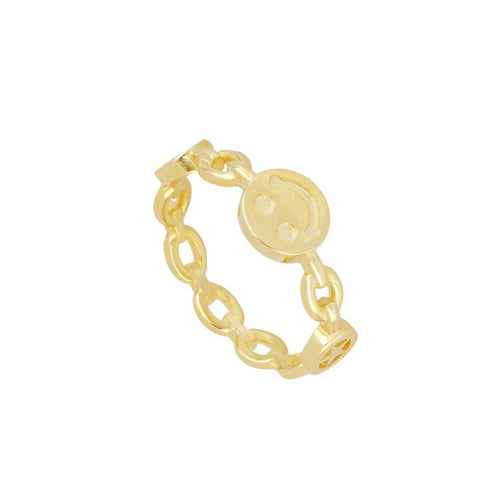 Anillo Smiley Gold