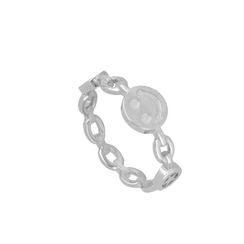 Anillo Smiley Silver
