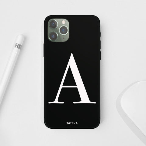Funda de móvil Big Initial Black