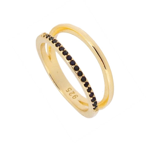 Anillo Doble Rita Gold